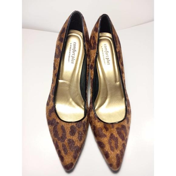 Comfort Plus by Predictions Leopard Heel Size 8.5